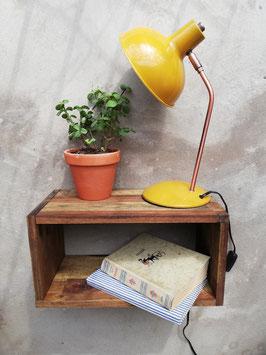 Vintage Nachtschrank hängend Industrial Beistelltisch schwebend Wandkonsole Wandkommode Industrie Design Bettablage