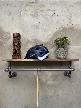 Loft Design Industrie Garderobe als Flur Wandgarderobe im Industrial Style in Form einer Rohrgarderobe