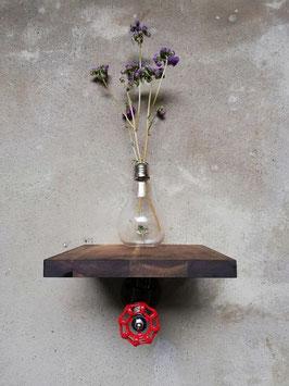 Loft Design Schwebendes Regal für Pflanzen und Blumen Tablar als Industrial Vintage Wandregal