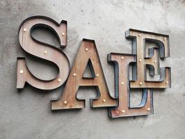 SALE Letters Buchstaben Schaufenster Beschriftung LED Dekoration Schaukasten