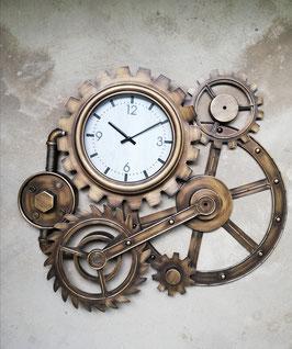 Steampunk Wanduhr Vintage Zahnraduhr Metalluhr Industrial Design Uhr Cafe Bar Industriedesign