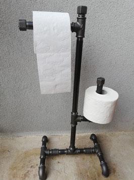 Freistehender Design Toilettenpapierhalter WC Vintage Papierhalter Toilette Industrial Klopapierhalter ohne Schrauben Toipapierhalter Papierabroller