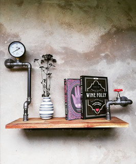Industrie Rohrregal Loft Stil im Vintage Steampunk Industrial Look