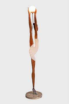 """XXL Ballarina Stehleuchte Art Deco Nostalgie Wohnzimmerlampe als Tänzerin """"White Dress"""""""