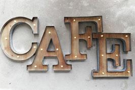 CAFE Led Letters Leuchtschrift Deko Buchstaben Vintage Schweiz Marqueesigns Wanddekoration