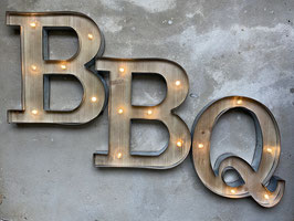 BBQ Leuchtschrift LED Letters FoodTruck Buchstaben Beleuchtet Schild Bar Food Festival
