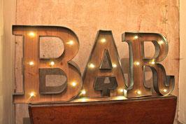 BAR Vintage Marquee Letters Metallbuchstaben beleuchtet LED Retro Dekoration Wandbeschriftung