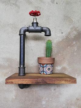 Retro Blumentopfhalterung Wandablage Vintage Ablage schwebendes Regal Urban Gardening Industrie Design Pflanzendisplay