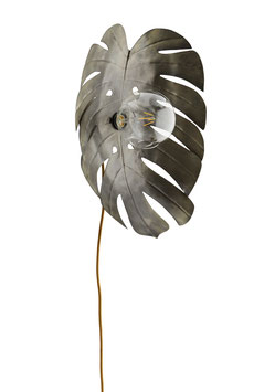 Monstera Design Wandlampe Kupfer Blatt Tropical Lampe