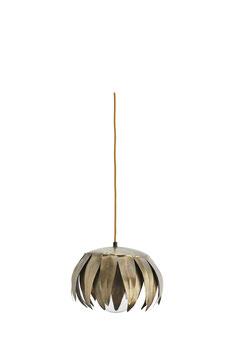 Blüte Lampe Artnoveau Hängelampe Blume Hängeleuchte Design Antik Brass Bronze