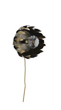 Antik Design Bronzelampe Blüte Wandlampe Metall