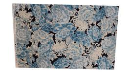 Blumen Eisblau-Silber by Robert Kaufman