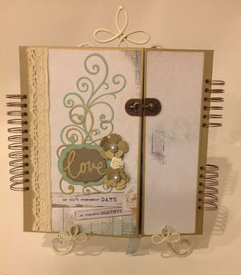 Wedding Album premade kit Blue Bay