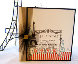 "Premade KIT Paris-Love Album 10"" x 10"""