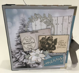 "Premade KIT Christmas 2017 8"" x 8"" inches"