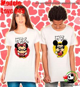 Mickey y Minnie Mr & Mrs