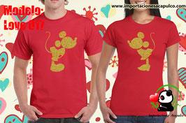Mickey y Minnie Mouse Oro Glitter