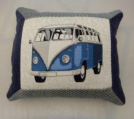 VW Bus Kissen blau