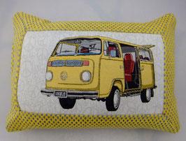 VW Bus Kissen gelb