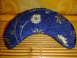 Mondkissen Silberblume auf Blau