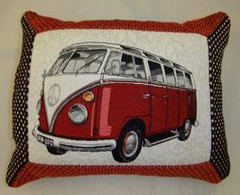 VW Bus Kissen rot