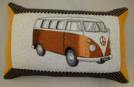 VW Bus Kissen orange