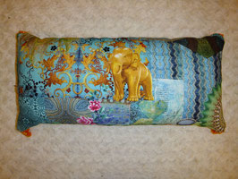 Rechteckkissen, Elefant, Meditationskissen, Reisekissen
