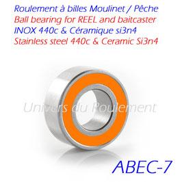 Roulement à billes Inoxydable hybride céramique SI3N4 à joints 2-RS
