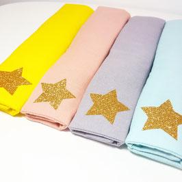 Protège cou étoile dorée