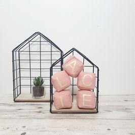 Cubes tissu prénoms