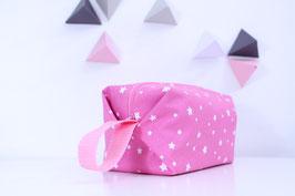 Trousse de toilette fushia étoiles petit modèle -30%