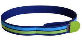 Kindergürtel Streifen grün-blau