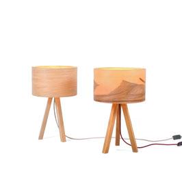 Tischlampe Tría Mikrá Wood