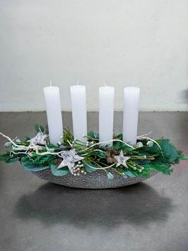 Schiffli mit     4 Kerzen