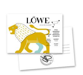 Postkarte: Sternzeichen LÖWE