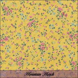 """Oilcloth """"Loving Liberty Mustard"""" by Au Maison"""