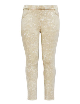 Jeggings in Stonewashed-Optik, beige