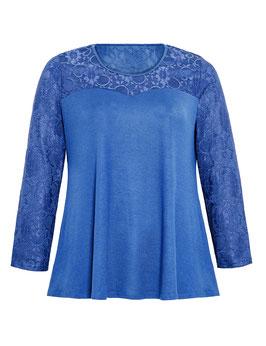 Pullover mit Spitze, royalblau