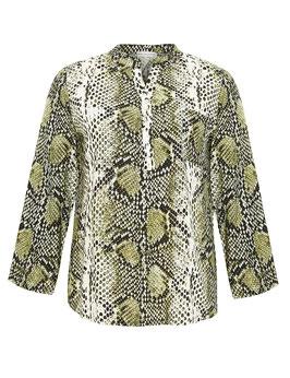 Bluse mit Schlangen-Print, grün gemustert