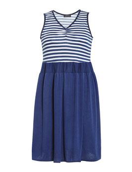 Sommerkleid mit Streifen, blau-weiß