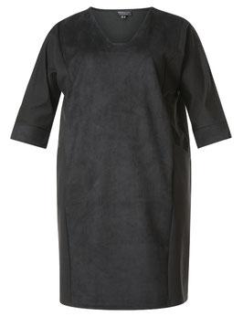 Kleid in Wildlderoptik, schwarz