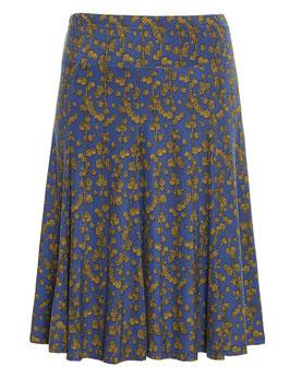 Glockenrock, blau mit gelben Muster