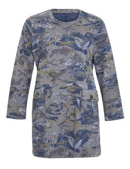 Sweatkleid, blau im Camouflage-Look