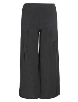 Damen Stretch-Hose mit Schlag, schwarz