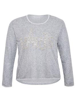 Damen-Sweatshirt mit Paris Motiv, grau meliert