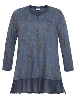 Damenpullover in A-Form, blau