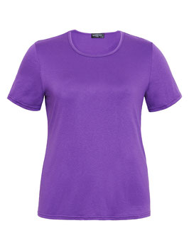 T-Shirt mit Rundhals, lila
