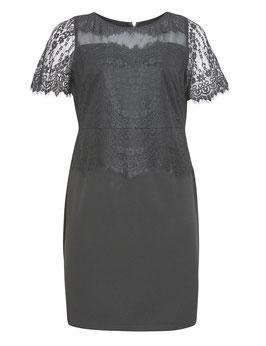 Kleid, schwarz mit Spitze