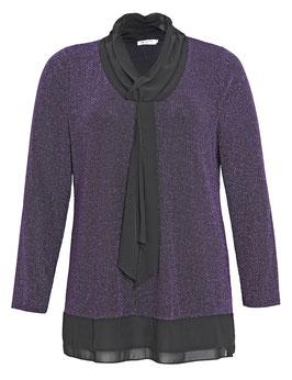 Glitzer-Pullover mit Chiffon-Krawatte, lila