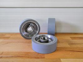 Gummierte Vorschubrolle 140 x 50 x 35 mm, Grau, 65 ShA